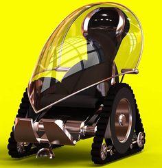 Fauteuil roulant électrique, tout terrain, design, profilé, avec toit transparent. >>> See it. Believe it. Do it. Watch thousands of spinal cord injury videos at SPINALpedia.com