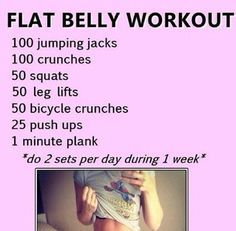nice Flat Stomach in 2 Week Workout look over cleaneatinghabits......