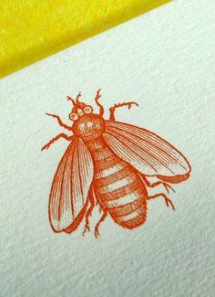 red bee motif
