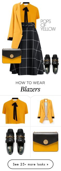 """outfit 7640"" by natalyag on Polyvore featuring Elvi, Bally, PopsOfYellow and NYFWYellow"