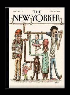 The New Yorker's cover by @Alvaro Liniers | Marzo 2014