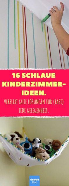 16 schlaue Kinderzimmer-Ideen. #Kinderzimmer #einrichten #Einrichtung #Wandgestaltung #DIY #Kinder #Baby #Aufbewahrung #Aufräumen