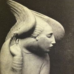 """""""Ivan Mestrovic's Archangel Gabriel"""". I love the way it looks like he is actively listening for something, perhaps a prayer directed to him."""