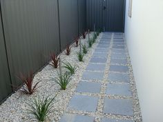 modern lanscape yard geometric