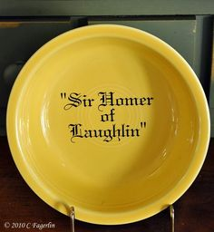 "Fiestaware HLC | ... gift for my cat ""Sir Homer of Laughlin"" by HLC about 10 years ago"