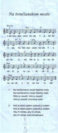 Na Trenčianskom moste Sheet Music, Train, Music Sheets