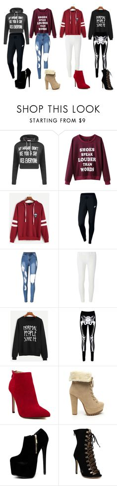 """""""winter oufits"""" by secret-marie ❤ liked on Polyvore featuring WithChic, NIKE, Dorothy Perkins and Boohoo"""