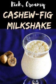 Cashew fig milkshake recipe (Kaju Anjeer Milkshake)- Milkshake made with milk, cashew nuts and dried figs. Indian Beef Recipes, Goan Recipes, Cooking Recipes, Easy Cooking, Indian Drinks, Indian Desserts, Dried Fig Recipes, East Indian Food, Lassi Recipes