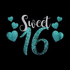 Sweet 16 T-Shirt With Blue Hearts Clothing - Sweet 16 - Tapestry 16th Birthday Wishes, Happy Birthday Bear, 30th Birthday Cake Topper, 16th Birthday Decorations, Birthday Cheers, Happy Birthday Messages, Sweet 16 Birthday, Birthday Greetings, Sweet Sixteen Quotes