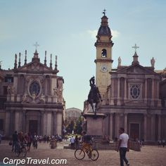 Piazza San Carlo in Turin Italy