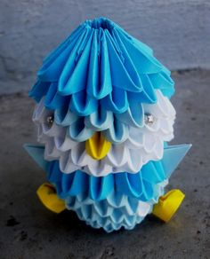 3D origami of a Pokemon character: http://origami.bluepop.us/diagram/swan_dir1.jpg