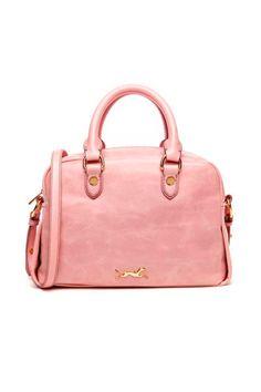 Doctor Bag en piel rosa, de Bimba y Lola.