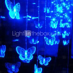 "Again, don't know what I would use this for, but I like the mystic blue and the butterflies. Like magic butterflies doing their thing in the enchanted forest, hung in a breezy, flock-like shape. ""LED String Lamp - Christmas & Halloween Decoration - Festival Light - wedding Light(1049-CIS-84026)"""