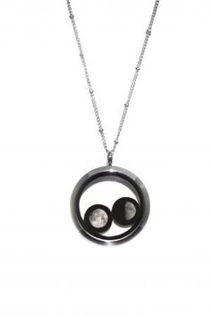 """""""Lovers in a Locket"""" is absolutely one of my favorite styles by Moonglow Jewelry and would love to have this necklace with the moon of myself and my boyfriend. :)"""