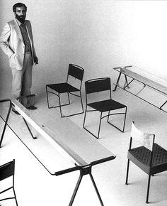 Enzo Mari with furniture