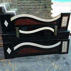Bed Designs India, New Bed Designs, Double Bed Designs, Bed Headboard Wooden, Bed Headboard Design, Bedroom Bed Design, Modern Bedroom Furniture Sets, Stylish Bedroom, Bed Furniture