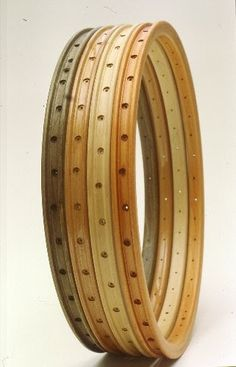 """Admit it, those photos of the early Gino Bartali with the wood rims had the wheels turning (!) in your head, """"I have to have a pair . Wooden Bicycle, Wood Bike, Bicycle Rims, Bicycle Parts, Velo Vintage, Vintage Bicycles, 3d Cnc, Bicycle Components, Bike Art"""