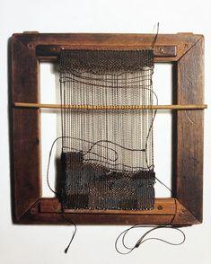 Weaving Textiles, Weaving Art, Tapestry Weaving, Textile Fiber Art, Textile Artists, Sheila Hicks, Framed Fabric, Diy Frame, Weaving Techniques
