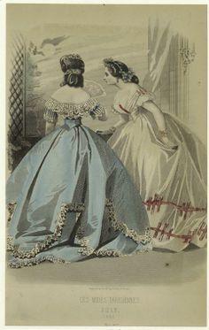 Les modes parisiennes, July 1865.