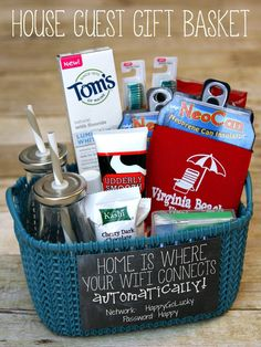 House Guest Gift Basket - Happy-Go-Lucky #madetomatter #ad Welcome Gift