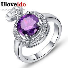 Find More Rings Information about Silver Plated Rings Vintage Wedding Jewellery Vaneltine's Day Purple Crystal Ring Bague En or Mariage Bijoux Women Jewelry J416,High Quality jewelry fashion,China jewelry tv Suppliers, Cheap jewelry swarovski from ULOVE Fashion Jewelry on Aliexpress.com