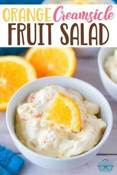 Orange Creamsicle, No Bake Desserts, Delicious Desserts, Dessert Recipes, Cake Recipes, Quinoa, Chicken Honey, Fruit Salad Recipes, Jello Salads