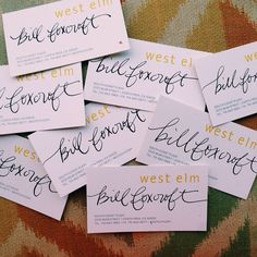 My friend wanted me to add a little ✒️ to his #westelm #business cards !
