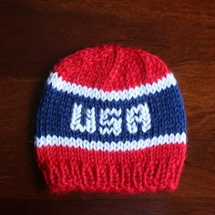 1d48bdc4841 Born in the USA. Knitting For CharityBaby Hats KnittingBaby Knitting  PatternsKnitted ...