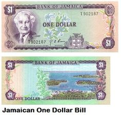Jamaican Currency $1 bill