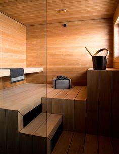 Bathroom Spa, Bathroom Colors, Master Bathroom, Bathroom Ideas, Modern Saunas, Sauna Kits, Indoor Sauna, Add A Room, Sauna Design