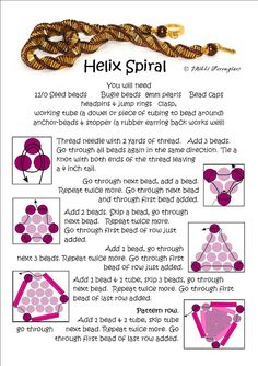 Bead Mavens: Helix Spiral  this site has very good tips on how to join fireline and good tutorials