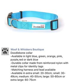 Dog collar by Doodlebone from Woof & Whiskers Boutique