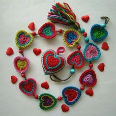 lovely crochet hearts