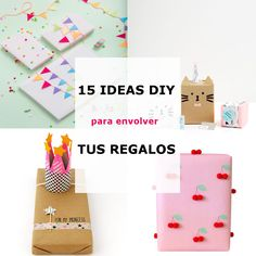 15 Ideas DIY para Envolver tus Regalos – Te regalo una idea #diy #giftwrapping #gift #wrapping #crafts