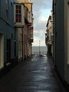 Just There. Glimpses of the sea in Cromer, Norfolk.