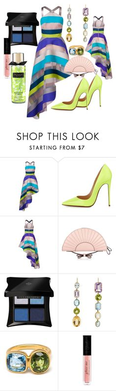 """""""Striped Dress"""" by francechic29 on Polyvore featuring Ginger & Smart, Christian Louboutin, RED Valentino, Illamasqua, Renee Lewis and Marie Hélène de Taillac"""