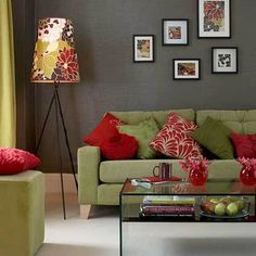 red and green livingroom