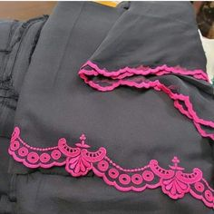 Embroidery Suits Punjabi, Kurti Embroidery Design, Embroidery Fashion, Velvet Dress Designs, Dress Neck Designs, Blouse Designs, Punjabi Suits Designer Boutique, Indian Designer Suits, Fancy Dress Design