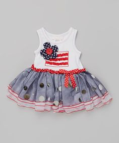 Love this Patriotic Ruffle Skirted Bodysuit - Infant by Gerson & Gerson on #zulily! #zulilyfinds