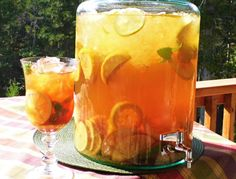 Sun tea - Did you know that when you brew tea, starting with cool water, in the sun that it will not become bitter?