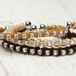 Leather Bracelet with Rhinestone Chain Tutorial