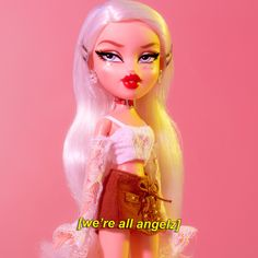 Bratz a n g e l z✨ Aesthetic dolls Boujee Aesthetic, Bad Girl Aesthetic, Aesthetic Collage, Aesthetic Pictures, Aesthetic Pastel, Bratz Doll Makeup, Bratz Doll Outfits, Phineas Et Ferb, Photowall Ideas