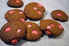Snabbt enkelt och gott, Färdigköpt pepparkaksdeg och chokladlinser.