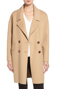 Double Face Double Breasted Walking Coat