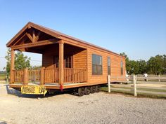 Rustic Cedar C3 Park Model being delivered to happy new home owners! Park Model Homes, Happy New Home, New Home Builders, New Homeowner, Interior And Exterior, New Homes, Cabin, Models, Rustic