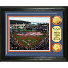 Miami Marlins - Marlins Park 2012 Opening Ceremony Gold Coin Photo Mint by Highland Mint - MLB.com Shop