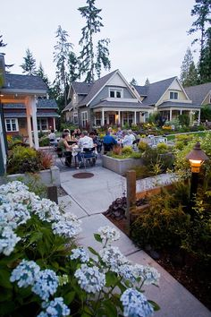 Potluck, Lifestyle, Danielson Grove, a new pocket community, Craftsman style cottages, by the Cottage Company, Linda Pruitt, Developer, Ross...
