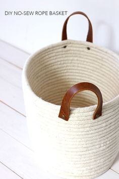DIY No-Sew Rope Coil Basket
