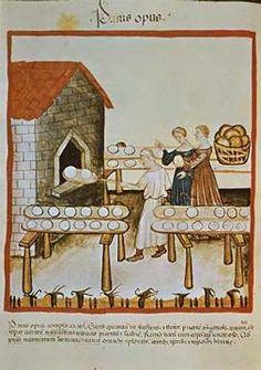 14. Jahrhundert, Hausbuch d. Cerruti / Brot/Ende 14.Jh.