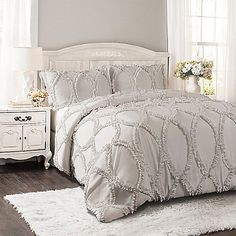 Grey Comforter, Queen Comforter Sets, Bedding Sets, Rustic Comforter Sets, Grey And White Comforter, Rustic Bedding, Chic Bedding, Master Bedroom, Bed Sets